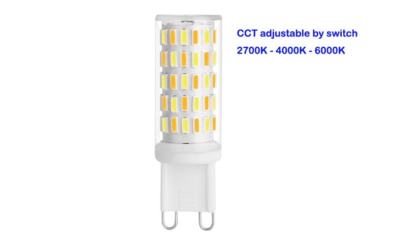 110v 350lm G9 Led Light With Change Color By Switch Led